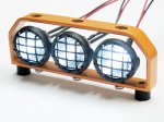 1:10 Led Lighting (3 inline) with Orange Metal Frame DY1020522