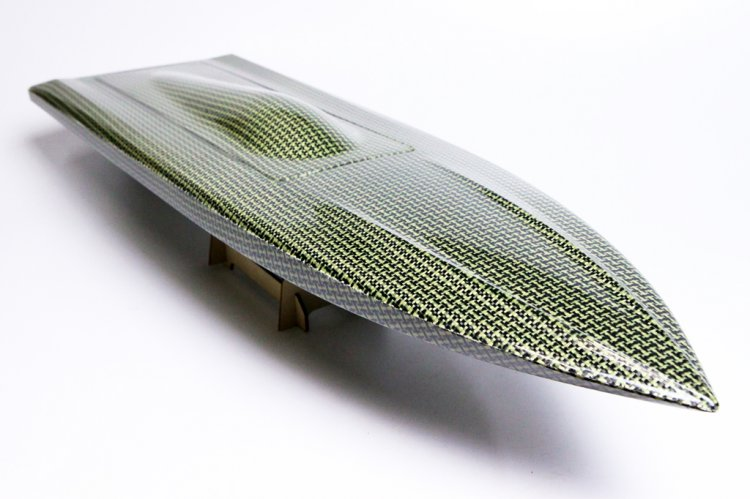 "850mm (33 1/2"") Kelvar / Carbon Composite Mono Deep V Hull - Click Image to Close"