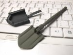 1:10 Scale Foldable ABS Military Shovel