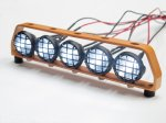 1:10 Led Lighting (5 inline) with Orange Metal Frame DY1020524