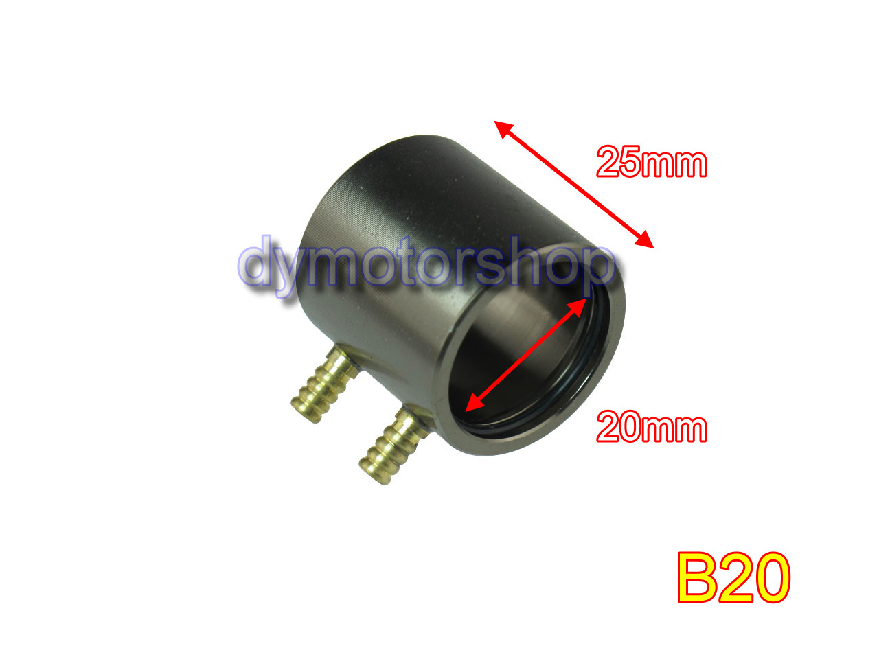 Aluminum Water Cooling Jacket for B20 ID: 20mm Brushless Motor