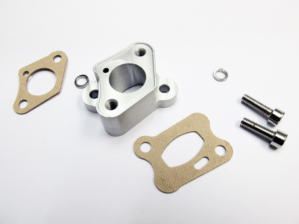 Aluminum Isolator Block with Gaskets for Zenoah Engine etc.