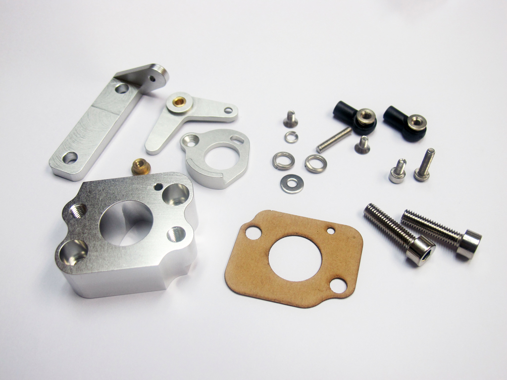 Alum. Isolator Block for Walbro WKY-33 with Throttle Assemebly