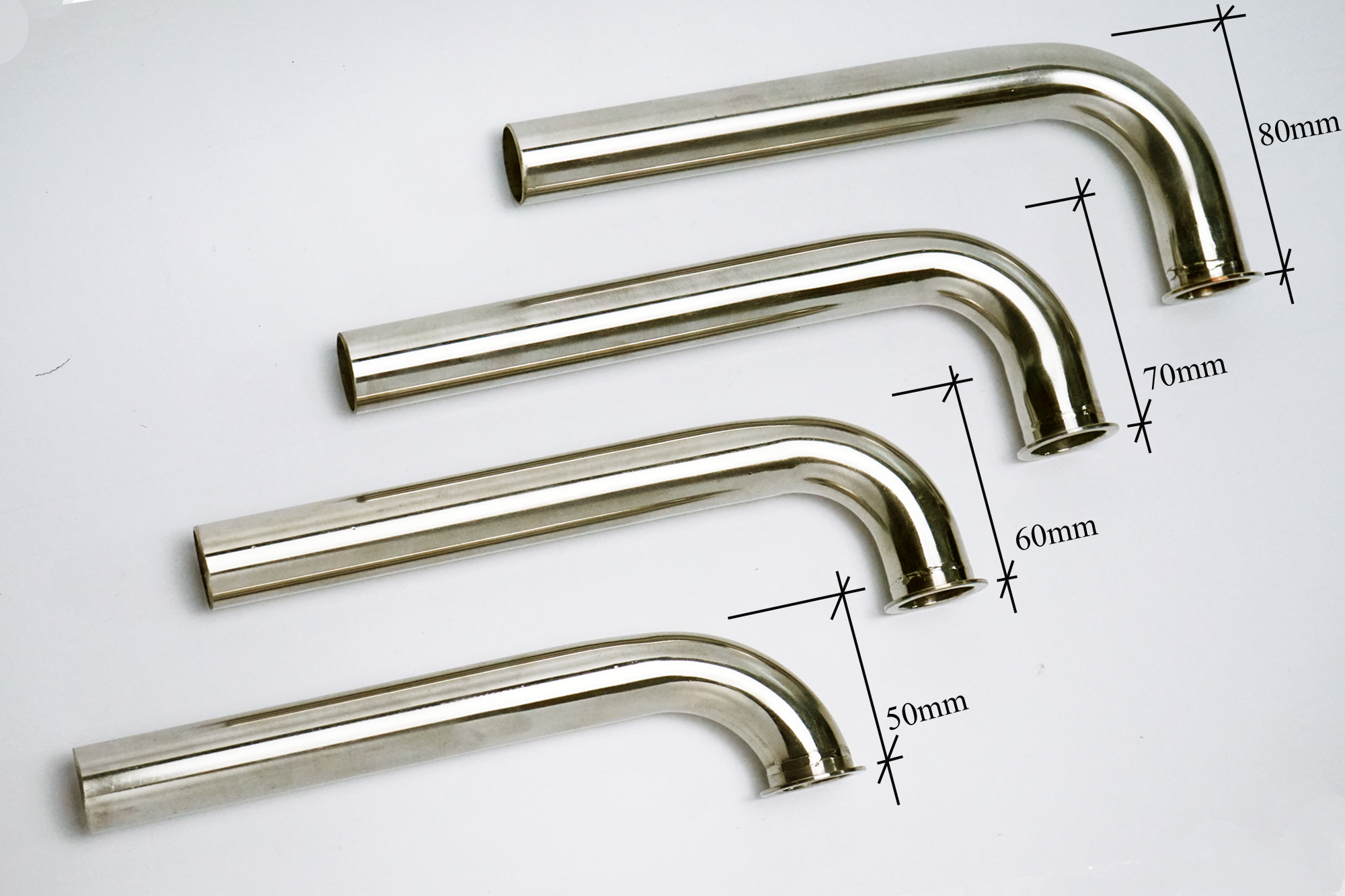 90 Degree Bend Width 50mm to 90mm Stainless Steel Header