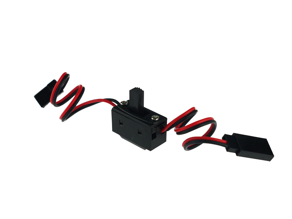 Power on/off switch with JR FUTABA Type Plug