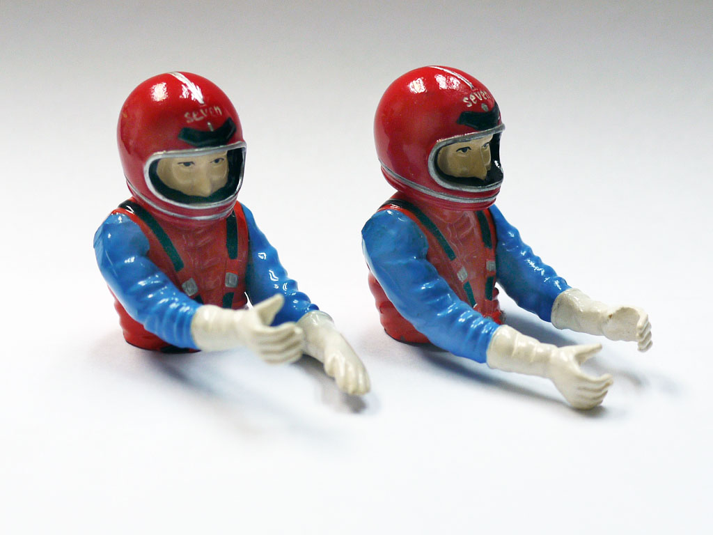 ABS Racing Figure Painted 38mm Pilot and Co-Pilot