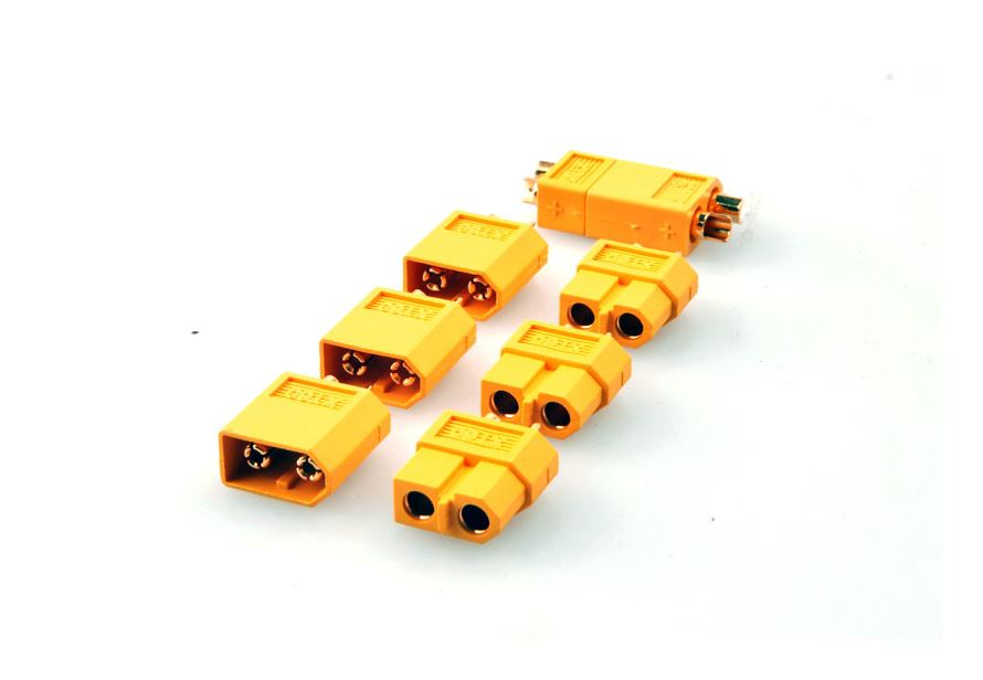 XT-60 Male / Female Bullet Connectors Adapter x 5 Pair - Click Image to Close
