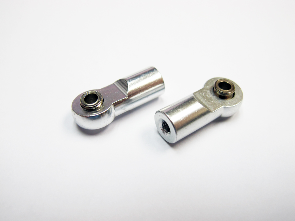 Aluminum M3 Ball Joints x 4 unit (Length 22mm) Silver