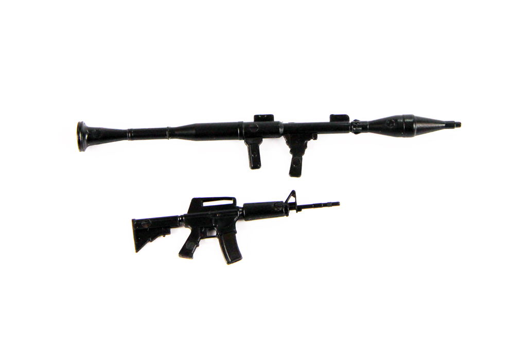 1:10 Scale ABS RPG and Machine Gun Set