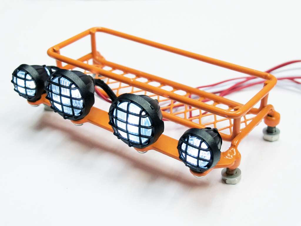 1:10 Scale Full Metal Roof Rack with LED Lighting