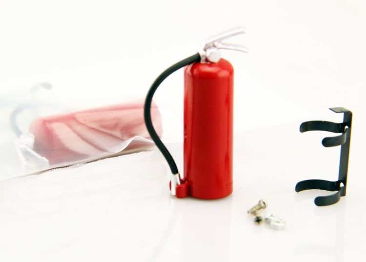 1:10 Scale Fire Extinguisher Red 48mm with Metal mount SCX10 RC4