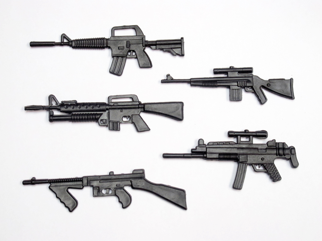 1:10 Scale ABS Machine Guns Pack
