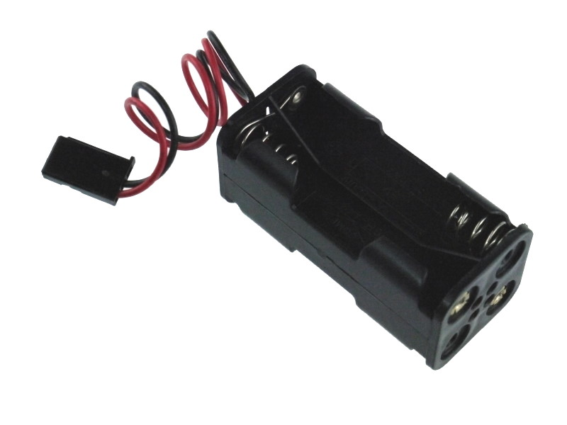 6v (4 x 1.5V) AA Battery Holder for with Receiver Plug (Futaba)